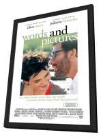 Words and Pictures - 11 x 17 Movie Poster - Style A - in Deluxe Wood Frame