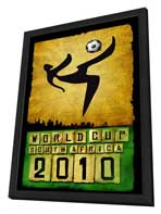 World Cup Soccer 2010 - 11 x 17 Movie Poster - Style C - in Deluxe Wood Frame