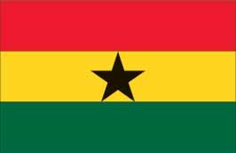 World Cup Soccer 2010 - 24 x 36 Flag Poster - Ghana