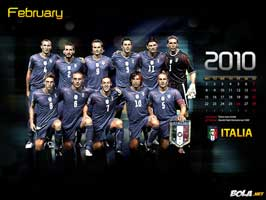 World Cup Soccer 2010 - 11 x 17 Soccer Poster - Team Italy Calendar