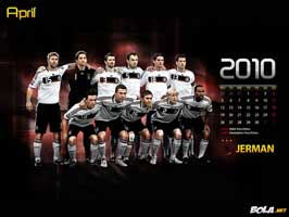 World Cup Soccer 2010 - 11 x 17 Soccer Poster - Team Germany Calendar