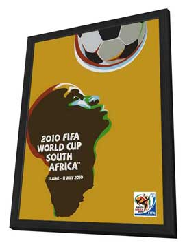 World Cup Soccer 2010 - 11 x 17 Movie Poster - Style E - in Deluxe Wood Frame