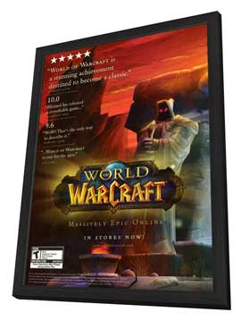 World of Warcraft - 11 x 17 Video Game Poster - Style A - in Deluxe Wood Frame