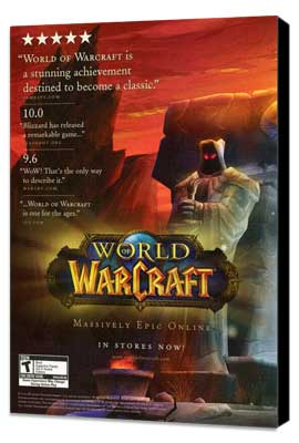 World of Warcraft - 11 x 17 Video Game Poster - Style A - Museum Wrapped Canvas