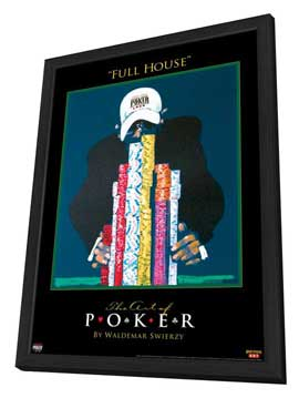 World Series of Poker - 11 x 17 Movie Poster - Style A - in Deluxe Wood Frame