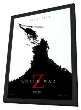 World War Z - 11 x 17 Movie Poster - Style A - in Deluxe Wood Frame