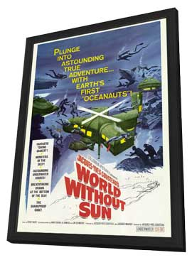 World Without Sun - 27 x 40 Movie Poster - Style A - in Deluxe Wood Frame
