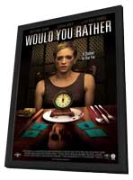Would You Rather - 11 x 17 Movie Poster - Style A - in Deluxe Wood Frame