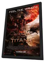 Wrath of the Titans - 11 x 17 Movie Poster - Style D - in Deluxe Wood Frame