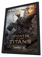 Wrath of the Titans - 11 x 17 Movie Poster - Style E - in Deluxe Wood Frame