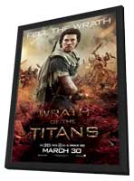 Wrath of the Titans - 11 x 17 Movie Poster - Style G - in Deluxe Wood Frame
