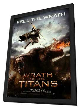 Wrath of the Titans - 11 x 17 Movie Poster - Style A - in Deluxe Wood Frame