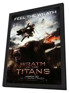 Wrath of the Titans - 27 x 40 Movie Poster - Style C - in Deluxe Wood Frame