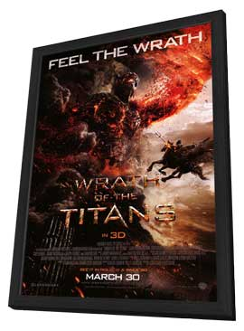 Wrath of the Titans - 27 x 40 Movie Poster - Style E - in Deluxe Wood Frame
