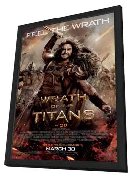 Wrath of the Titans - 11 x 17 Movie Poster - Style F - in Deluxe Wood Frame