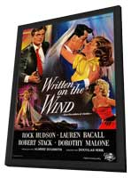 Written on the Wind - 11 x 17 Movie Poster - Spanish Style A - in Deluxe Wood Frame
