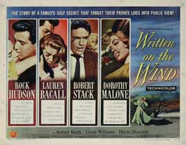 Written on the Wind - 22 x 28 Movie Poster - Half Sheet Style B