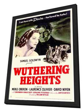 Wuthering Heights - 27 x 40 Movie Poster - Style A - in Deluxe Wood Frame