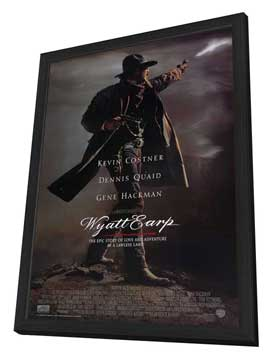 Wyatt Earp - 11 x 17 Movie Poster - Style A - in Deluxe Wood Frame