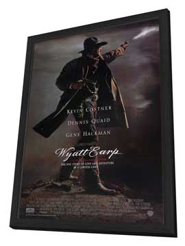 Wyatt Earp - 27 x 40 Movie Poster - Style A - in Deluxe Wood Frame