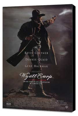 Wyatt Earp - 27 x 40 Movie Poster - Style A - Museum Wrapped Canvas