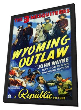Wyoming Outlaw - 11 x 17 Movie Poster - Style A - in Deluxe Wood Frame