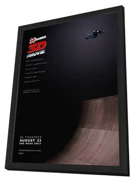 X Games 3D The Movie - 11 x 17 Movie Poster - Style A - in Deluxe Wood Frame