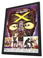 X: The Man with X-Ray Eyes - 11 x 17 Movie Poster - Style A - in Deluxe Wood Frame