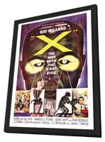 X: The Man with X-Ray Eyes - 27 x 40 Movie Poster - Style A - in Deluxe Wood Frame