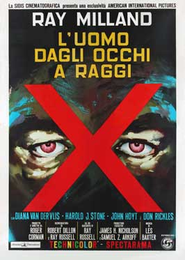 X: The Man with X-Ray Eyes - 27 x 40 Movie Poster - Italian Style A