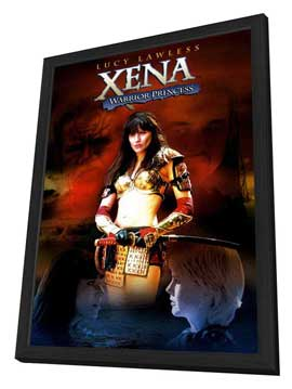Xena Warrior Princess - 11 x 17 TV Poster - Style A - in Deluxe Wood Frame