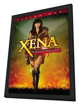 Xena Warrior Princess - 11 x 17 TV Poster - Style B - in Deluxe Wood Frame