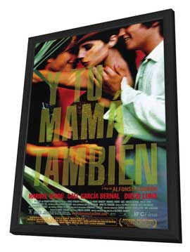Y Tu Mama Tambien - 11 x 17 Movie Poster - Style C - in Deluxe Wood Frame