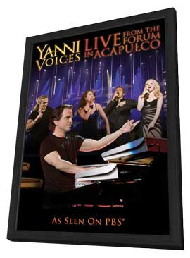Yanni: Voices - Live from the Forum in Acapulco (TV) - 11 x 17 Movie Poster - Style A - in Deluxe Wood Frame