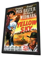 Yellow Sky - 11 x 17 Movie Poster - Style A - in Deluxe Wood Frame