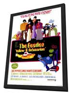 Yellow Submarine - 27 x 40 Movie Poster - Style A - in Deluxe Wood Frame