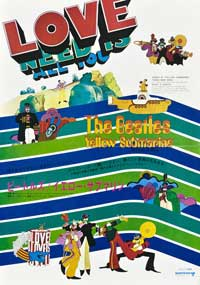 Yellow Submarine - 11 x 17 Movie Poster - Japanese Style A