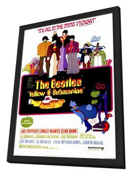 Yellow Submarine - 11 x 17 Movie Poster - Style A - in Deluxe Wood Frame