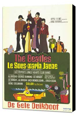 Yellow Submarine - 11 x 17 Movie Poster - French Style A - Museum Wrapped Canvas