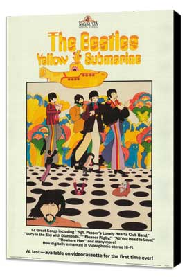 Yellow Submarine - 11 x 17 Movie Poster - Style E - Museum Wrapped Canvas