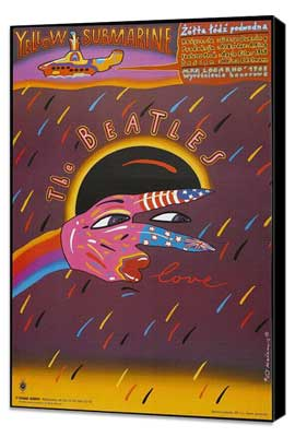 Yellow Submarine - 11 x 17 Movie Poster - Polish Style A - Museum Wrapped Canvas