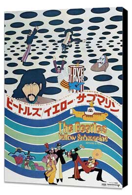 Yellow Submarine - 27 x 40 Movie Poster - Japanese Style A - Museum Wrapped Canvas