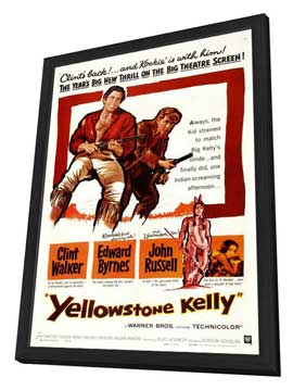 Yellowstone Kelly - 27 x 40 Movie Poster - Style A - in Deluxe Wood Frame