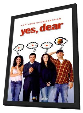 Yes, Dear - 11 x 17 TV Poster - Style A - in Deluxe Wood Frame