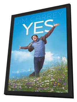 Yes Man - 27 x 40 Movie Poster - Style A - in Deluxe Wood Frame