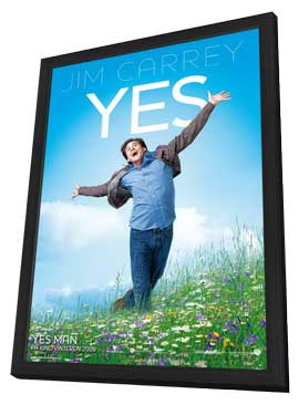 Yes Man - 11 x 17 Poster Norwegian Style A - in Deluxe Wood Frame