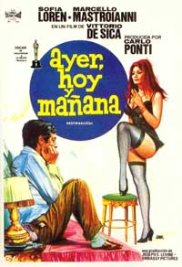 Yesterday, Today and Tomorrow - 11 x 17 Movie Poster - Spanish Style A