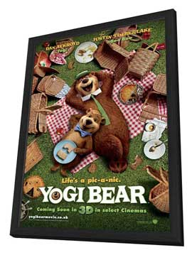 Yogi Bear - 11 x 17 Movie Poster - UK Style A - in Deluxe Wood Frame