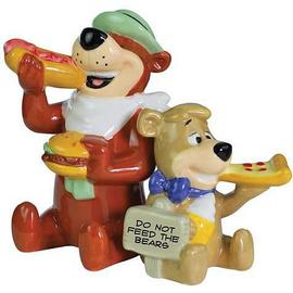 Yogi Bear - and Boo-Boo Eating Salt and Pepper Shaker Set