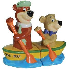 Yogi Bear - and Boo-Boo Canoe Salt and Pepper Shaker Set